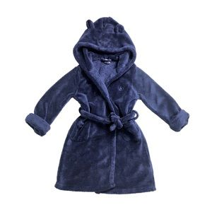 Baby Gap Fleece Plush Robe with Bear Ears Hood